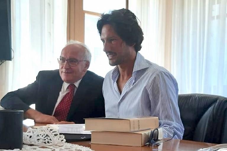 Luca Vigilante col garante dei diritti dei disabili Giuseppe Tulipani