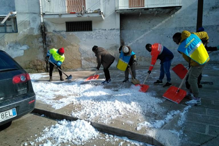 Emergenza neve BAT, l'impegno delle Misericordie