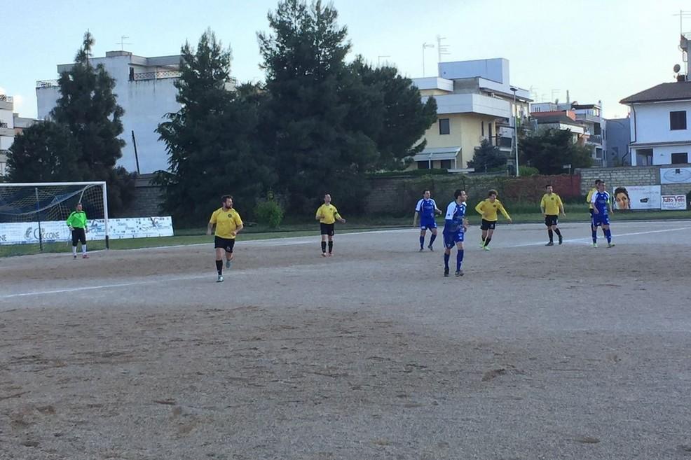 Un'azione del match Stornarella-Bellavita