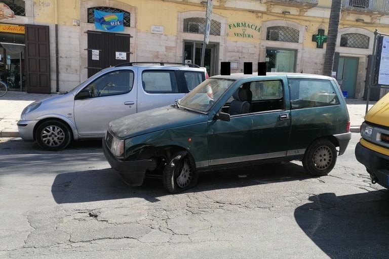 L'auto risultata rubata